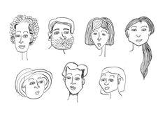 Faces - illustration by Sarita van de Schilde