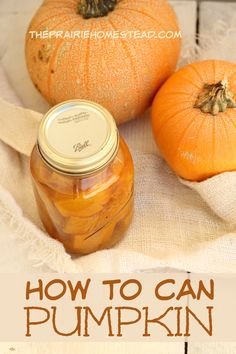 How to can pumpkin-- it's possible! You can the cubes and then mash when you are needing puree. Easy peasy.