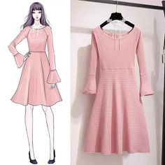 Clothing design drawings dresses fashion illustrations ideas Best Picture For fashion sketches f Korean Fashion Trends, Asian Fashion, Look Fashion, Hijab Fashion, Fashion Ideas, Dress Illustration, Fashion Illustration Dresses, Fashion Illustrations, Fashion Design Drawings