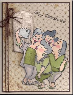 AI BFF or Girlfriends by - Cards and Paper Crafts at Splitcoaststampers Art Impressions rubber stamps. Also would look too cute for a scrapbook page. Scrapbook Supplies, Scrapbook Cards, Art Impressions Stamps, Cards For Friends, Digi Stamps, Funny Cards, Copics, Cool Cards, Creative Cards