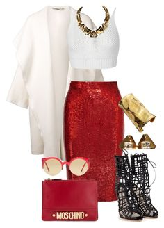 """""""Mrs. Claus Sleighing The Kids."""" by monroestyles ❤ liked on Polyvore"""