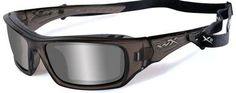 Wiley X Arrow Safety Sunglasses with Liquid Grey Frame and Silver Flash Lens