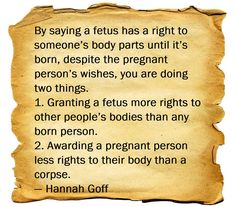 This is why I am pro-choice. The right to bodily integrity (a universal human right) explained.