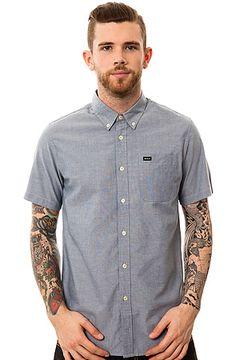 The That'll Do SS Buttondown Shirt in Docker Blue by RVCA