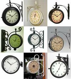 Train station clocks. I have the perfect spot for one of these. Just waiting for the right one to come my way!