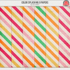 Free printable 'Colour Splash no. 9' papers