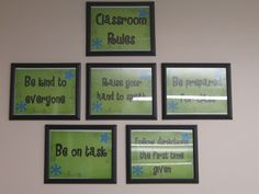 Rules in dollar store frames.  The Creative Chalkboard: Classroom Tour Pictures Galore!