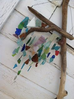 River treasures driftwood with Beautifully by creationdesigns