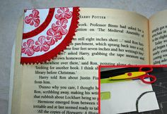Here's a fun idea for making a cute bookmark out of a corner of an envelope!