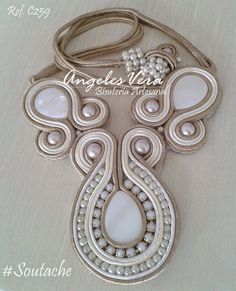 collares soutache - Buscar con Google Soutache Pendant, Soutache Jewelry, Macrame Jewelry, Beaded Necklace, Shibori, Soutache Tutorial, Jewelery, Jewelry Bracelets, Diy Rings