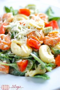Spinach and Tortellni Salad