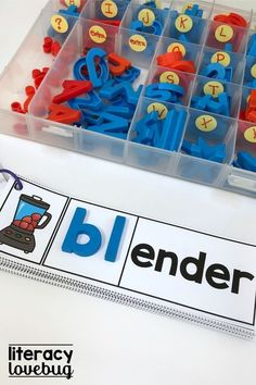 Just add the l blends needed! This activity will help your kindergarten and first grade students learn blend sounds. This is a fun activity to place at a literacy center, to use for word work or with your small group guided reading. Word Family Activities, Spelling Activities, Montessori Activities, Word Work Stations, Literacy Stations, Literacy Centers, Writing Centers, Phonics Reading, Guided Reading