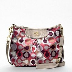 "Coach Madison Crossbody Coach Madison OP art crossbody. Practically new, only used 1-2 times. Forgot I had it until I was cleaning my closet! It has a sateen finish. Measures 10"" x 7.5"" x 2.5"" Coach Bags Crossbody Bags"