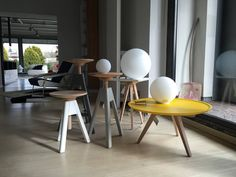Vitos stools and the sweet Servolino coffee table in a showroom in Asti, Italy. #interior #design #interiordesign #homedecor #home #forthehome #living #forniture