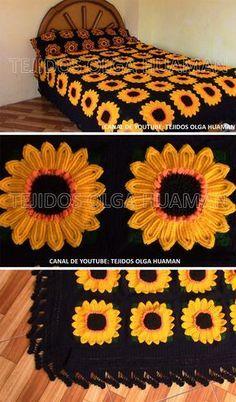 How To Make Crochet Sunflower Blanket : Sunflower Granny Square Blanket Crochet… – Granny Square Granny Square Crochet Pattern, Crochet Flower Patterns, Crochet Squares, Crochet Granny, Crochet Blanket Patterns, Crochet Flowers, Afghan Patterns, Granny Granny, Crochet Blocks