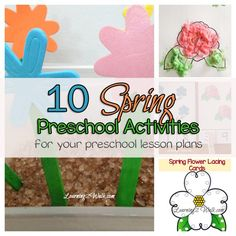 Here are 10 spring preschool activities for your preschool lesson plans. Try a few of these Spring Math, Spring Sensory, Spring Science , Spring Art and packs.