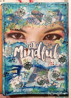 Be mindful art journal page and process video using stencils from the crafter's workshop and prompts from mike deakin's mission inspiration Art Journal Pages, Art Journal Prompts, Art Journals, Journal Ideas, Bullet Journals, Junk Journal, Stencils, Mandala, Scrapbooking
