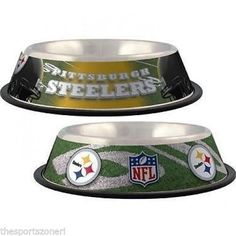 Pittsburgh Steelers Stainless Steel Pet Bowl #PittsburghSteelers Visit our website for more: www.thesportszoneri.com