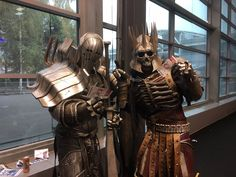 Eredin and Imlerith from The Witcher 3 cosplay at Paris Games Week