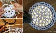 Crochet LED Light Rug