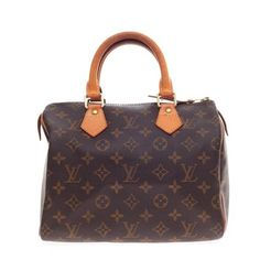 Louis Vuitton Speedy Monogram Canvas 25 Brown Bag - Satchel. Save 42% on the Louis Vuitton Speedy Monogram Canvas 25 Brown Bag - Satchel! This satchel is a top 10 member favorite on Tradesy. See how much you can save