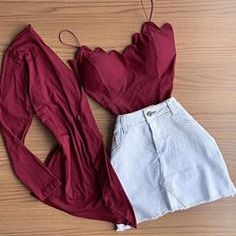 No photo description available. Girls Fashion Clothes, Teen Fashion Outfits, Teenage Outfits, Cute Fashion, Girl Fashion, Girl Outfits, Fashion Women, Summer Outfits For Teens, Cute Casual Outfits