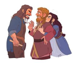 Thorin meeting Dís' husband for the first time !