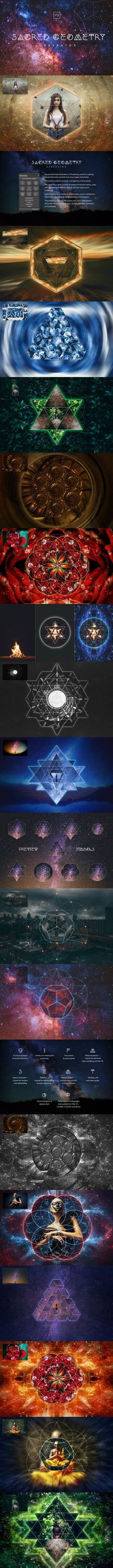 Sacred Geometry Generator. Photo Effect Photoshop Actions. $20.00
