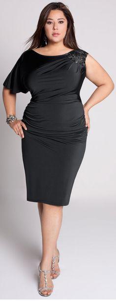 Becca Plus Size Asymmetric Dress
