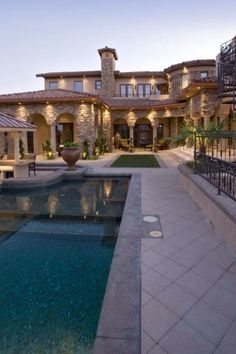 Spanish style house with beautiful pool
