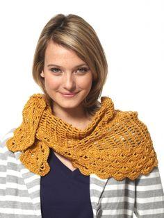 Grace - Staggered Shells Wrap (crochet) | Yarn | Free Knitting Patterns | Crochet Patterns | Yarnspirations