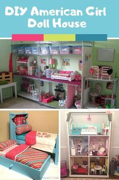 DIY American Girl Furniture Projects You Need to See Loving these American Girl Doll House Ideas!Loving these American Girl Doll House Ideas! American Girl Storage, American Doll House, American Girl Doll Room, American Girl Furniture, Girls Furniture, American Girl Crafts, Furniture Projects, Diy Projects, American Girl Dollhouse