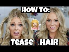 How To Tease Hair For Tons Of Volume - YouTube