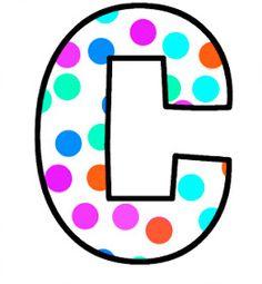 ArtbyJean - Paper Crafts: Alphabet Set - Polka Dots in bright magenta, shocking pink, blue, turquoise, aqua, and orange. Cute Alphabet, Monogram Alphabet, Alphabet And Numbers, Polka Dot Letters, Bubble Letters, Polka Dots, Aqua, Turquoise, Pink Blue