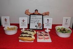 Wreck It Ralph movie night menu. Ralph's Hero Subs, Gold Medals, Vanellope's Hero Cookies, Cybug Salad.