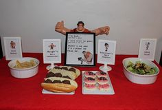 Wreck It Ralph movie night menu. Ralph's Hero Subs, Gold Medals, Vanellope's Hero Cookies, Cybug Salad.
