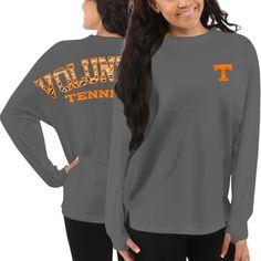 Women's Tennessee Volunteers Gray Aztec Sweeper Long Sleeve Top. Tennessee Vols, Clothing, Tshirt.