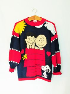 Vintage Peanuts Charlie Brown and Lucy Sweater by FreshtoDeathVintage