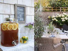 peach + iced tea| garden party