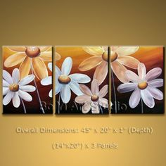 Contemporary Wall Art On Canvas Egg Flower Abstract Painting #2014 | Modern_Abstract_Art - Painting on ArtFire US $108.00