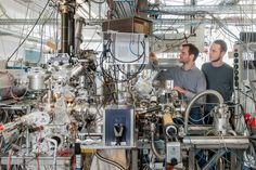 Sub-nanometer catalysts show substantially different behavior than projected. This is a photograph of Andrew Crampton and Marian Rotzer at their vacuum chamber for production of ultra-small catalyst particles. Find out more:
