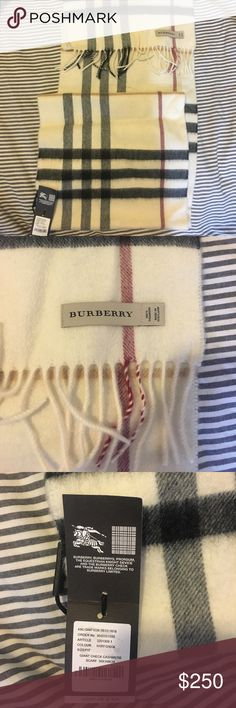 BRAND NEW 100% cashmere Burberry plaid scarf Giant check pattern. Brand new, tags still on, cashmere Burberry scarf. Burberry Accessories Scarves & Wraps