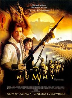 The Mummy - 1999 - written and directed by Stephen Sommers. Starring: Brendan Fraser, Rachel Weisz, John Hannah, Kevin J. The first and still the best of the Mummy movies. Film Movie, Film D'action, Bon Film, See Movie, Movie List, All Movies, Action Movies, Great Movies, Horror Movies