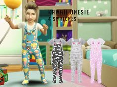 The Sims Resource: Kawaii Onesie by Dreacia • Sims 4 Downloads