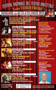 """Al via il """"Festival Nazionale del Teatro Dialettale """" La Guglia D'Oro 2016″. Il programma"""