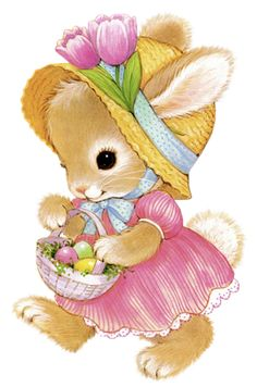Cute Easter Bunny Girl PNG Clipart Picture
