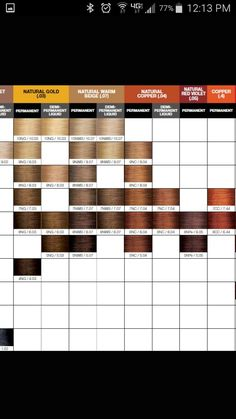 Joico LumiShine Demi-Permanent Lquid Shade Chart 4 jan ...