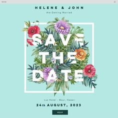 Save the Date Website Template | Save the Date Online Invitation