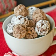 Melted 3 Musketeers candy bars and hot cocoa mix give these little crispy treats the taste of hot chocolate!