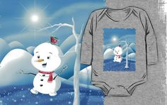 'Snowbaby on Sparkling Ice' Kids Clothes by We ~ Ivy Ice Ice Baby, Presents For Friends, My Themes, Website Themes, Good Cause, Sparkling Ice, Xmas, Christmas, Snowman